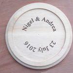 Wedding Cake plate inscription.