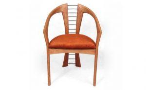 Chair in laminated cherry: Designer/Maker Aaron Moore