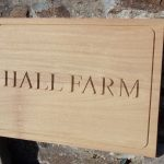 Hall Farm house sign