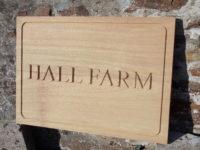 Hall Farm house sign