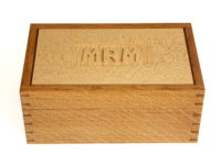 Jewelery box in oak and sycamore: Designer/Maker Aaron Moore