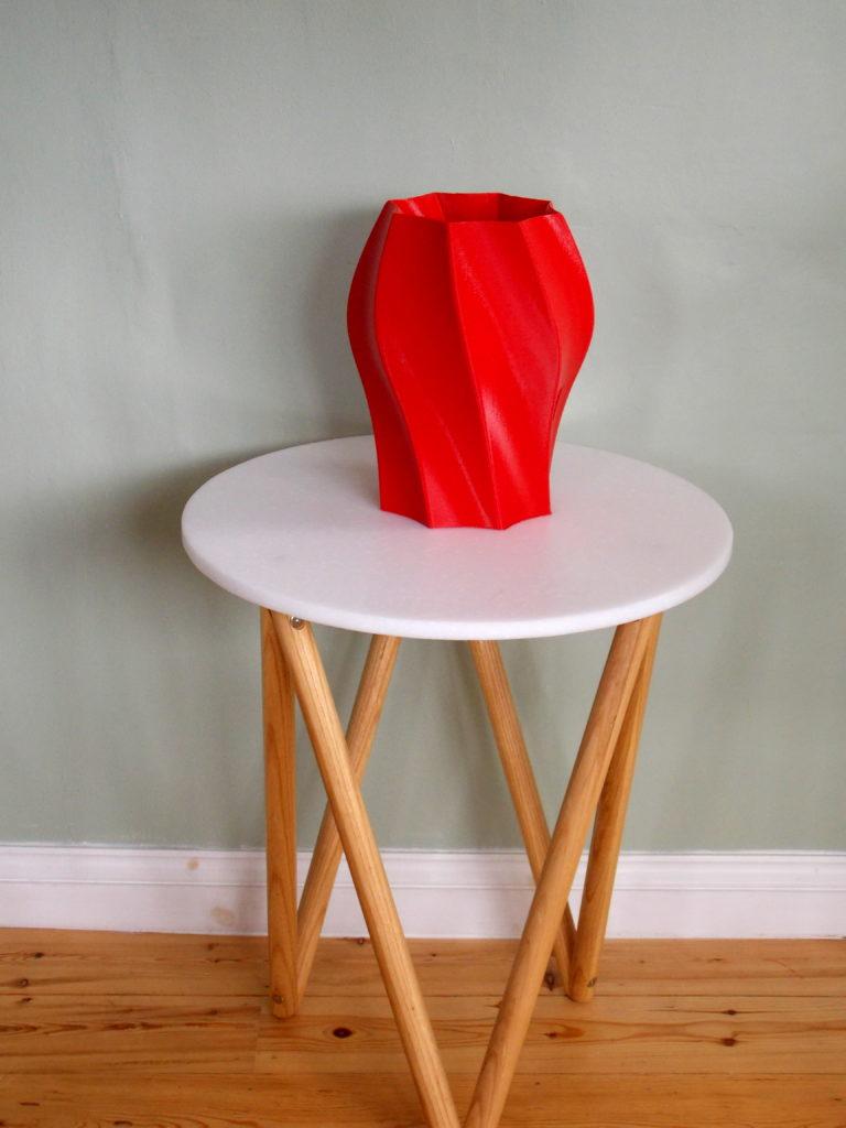 Large printed vase