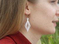 Printed earrings. Designer: Aaron Moore