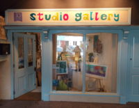 Gallery sign for Jo Polak, St Agnes