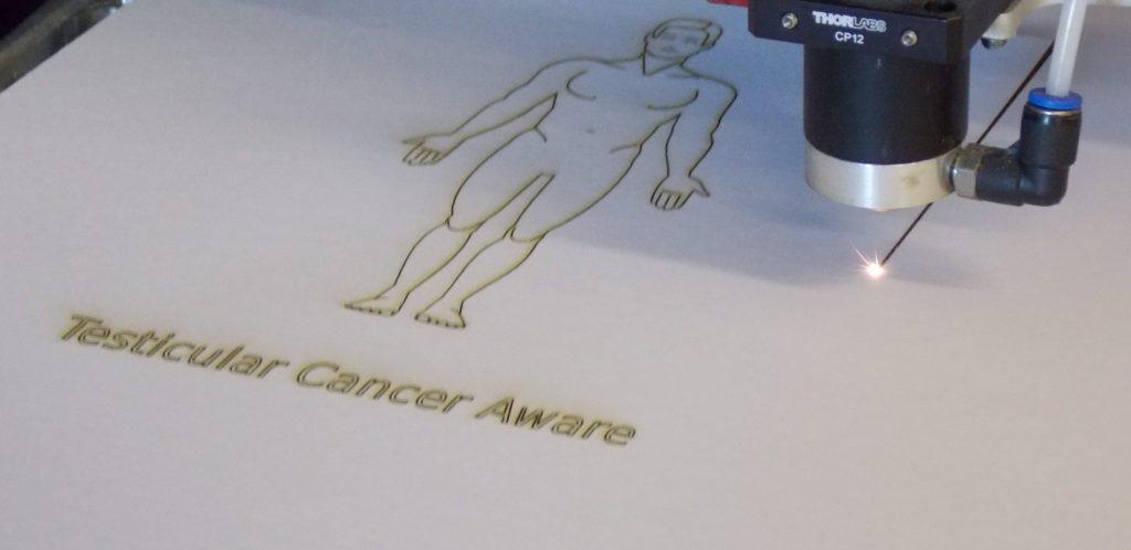 Testicular cancer awareness card