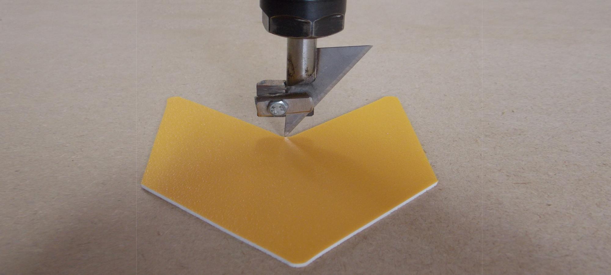 Drag knife cutting switch plate Designer: Stuart Watts
