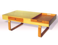 Coffee table in cherry and Maple: Designer/Maker Aaron Moore