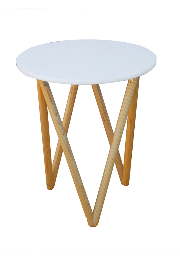 Tetra Table, ash and recycled plastic: Designer/Maker Aaron Moore