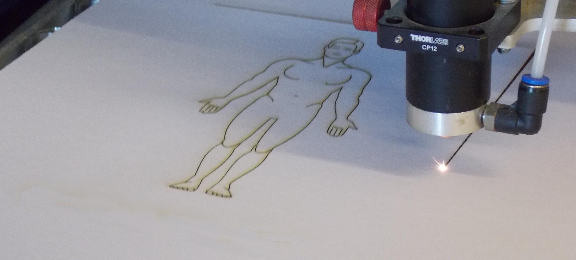 Laser cutting card