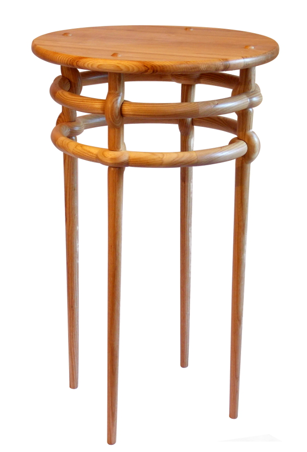 Weave table in ash: Designer/maker: Aaron Moore
