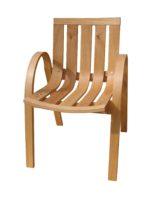 Garden chair in steam bent oak: Designer/Maker Aaron Moore
