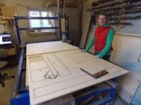 Making caravan doors at Maker Space