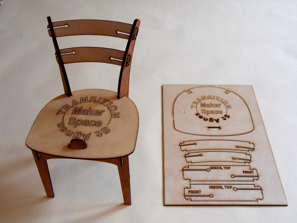 Phone chair kit: Designer/Maker Aaron Moore