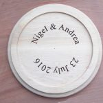 Wedding Cake plate inscription.