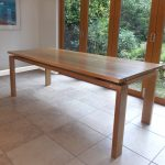Dining table in oak: Designer/Maker Aaron Moore