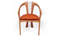 Chair in laminated cherry: Designer/Maker Aaron Moore