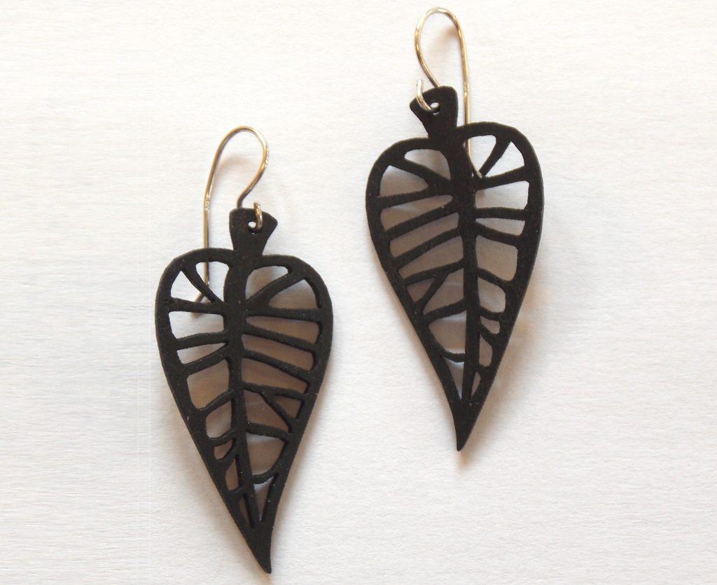 Ebony earrings. Designer: Aaron Moore