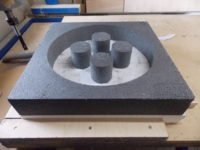 CNC Machined foam molds for concrete stove