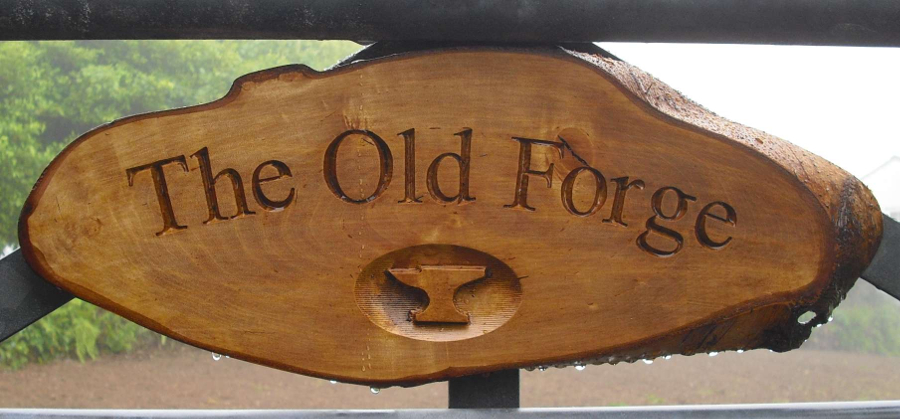 Old forge house sign